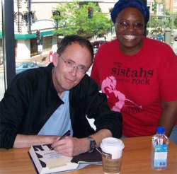 candra getting her book signed by william gibson